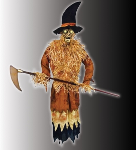 New the illuminated harvester animated scarecrow for Animated scarecrow decoration