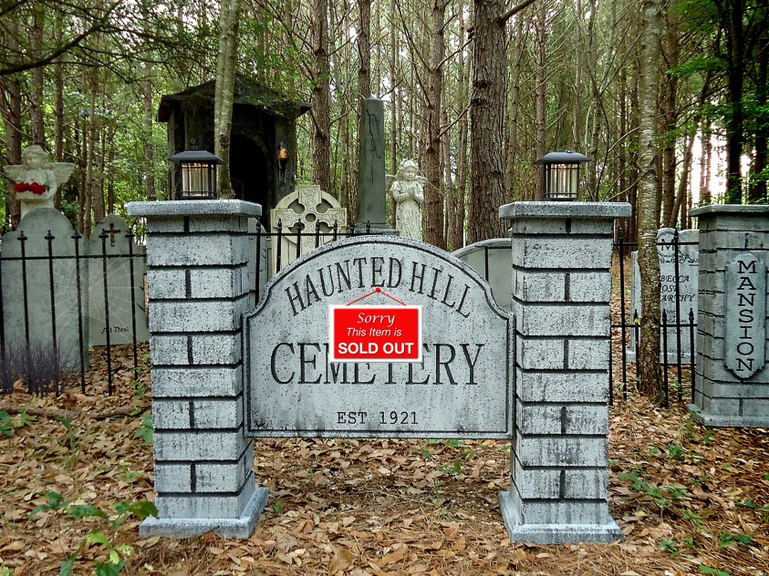 Haunted Hill Cemetery Sign1so